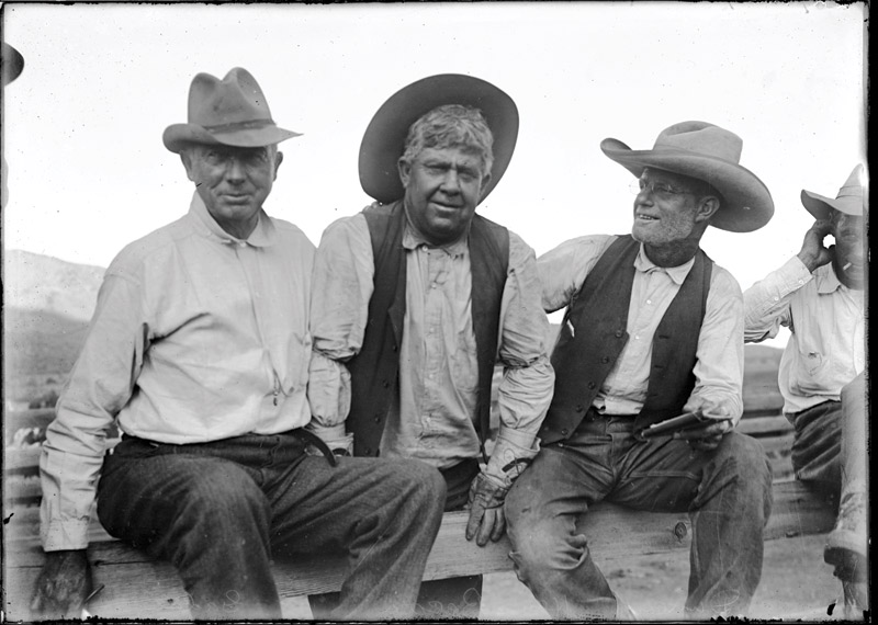 Cowboys in Hackberry, Arizona in 1918