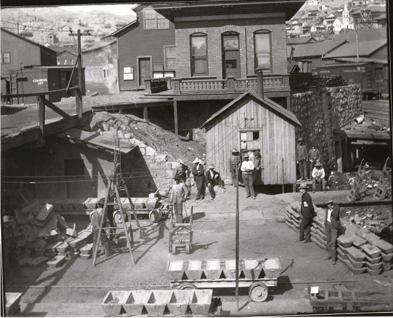 Copper Queen bullion yard, Bisbee, circa 1900