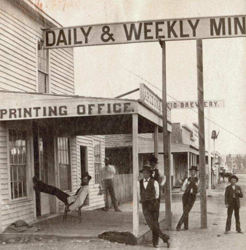 Arizona Miner newspaper office, Prescott, 1878