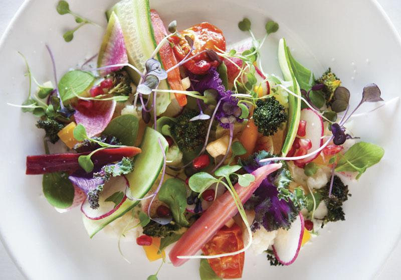 Photo by Jamie Peachey; Farmer's Market Salad at Tarbell's