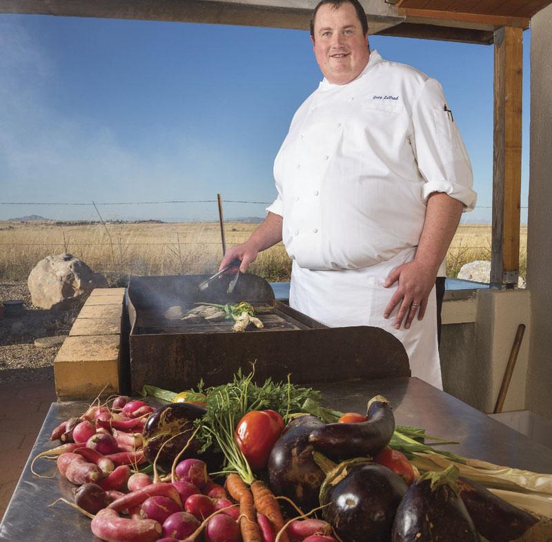 Photo by Jim David; Chef Greg LaPrad of Overland Trout in Sonoita