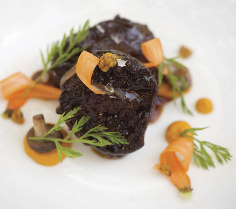 Photos by Laura Segall; Braised veal cheek