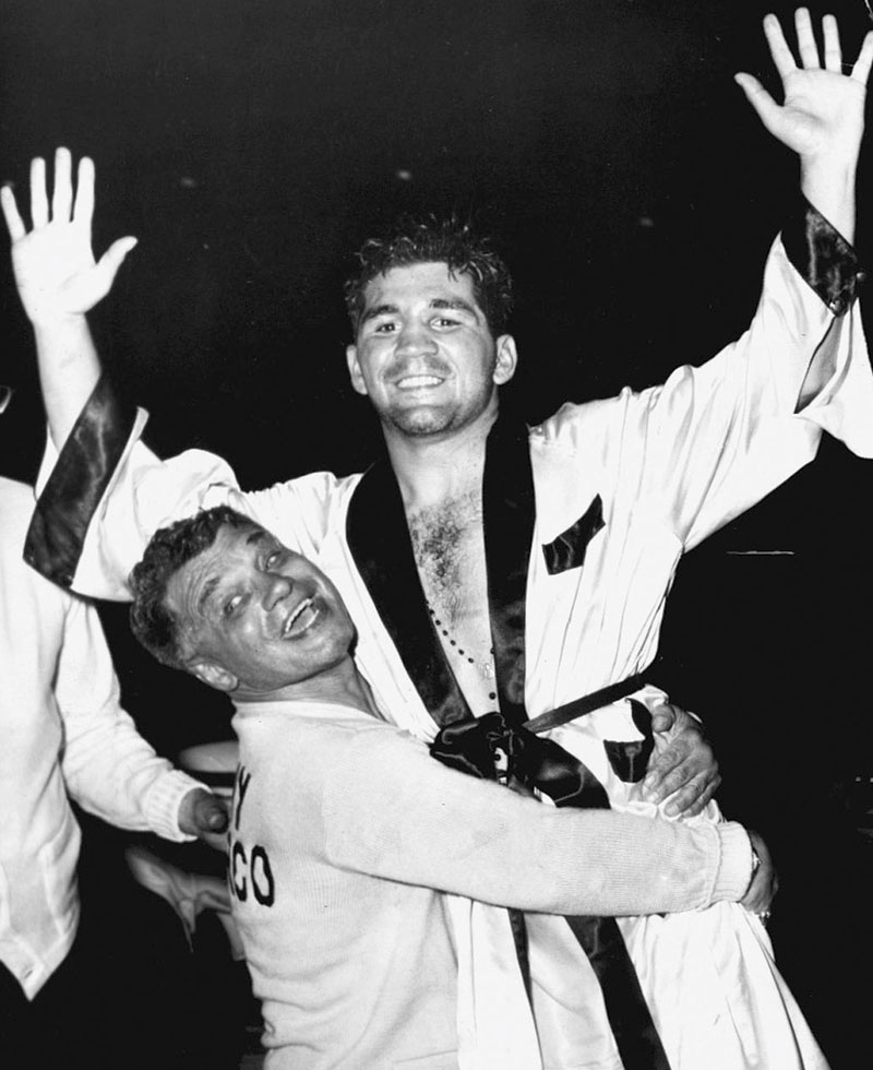 DeMarco after winning the welterweight title in 1955