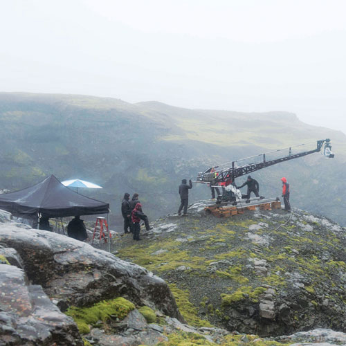 PHM 800x800 FPO Walter Mitty crew members assemble a crane overlooking a valley in Vatnajokull National Park
