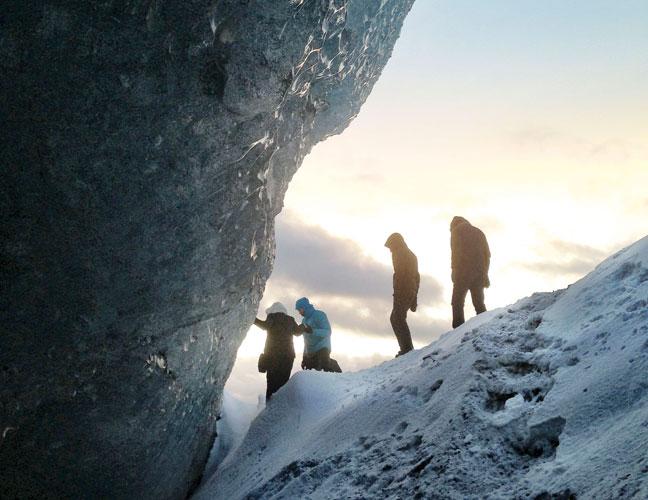 Exploring glaciers at Vatnajokull National Park
