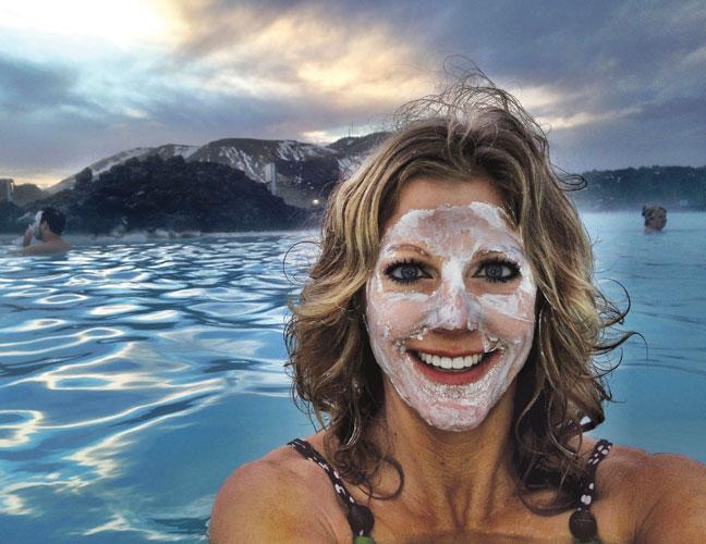 Tara at the Blue Lagoon thermal mud pool