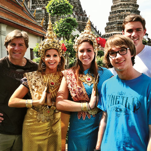 Tara and her family in Thailand, 2013