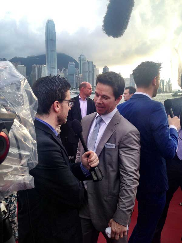 Mark Wahlberg at Transformers premiere