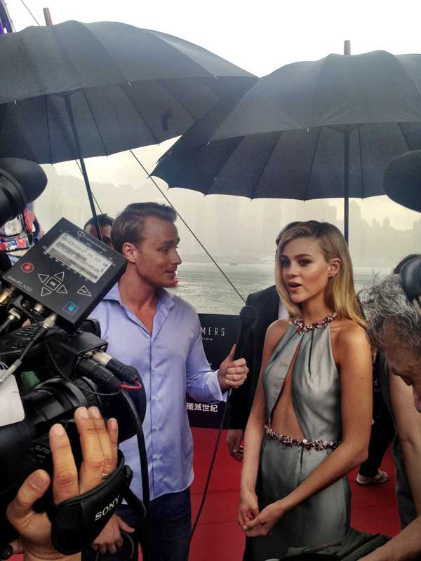 Interview with Nicola Peltz at Transformers premiere