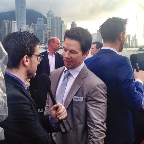 Mark Wahlberg at the  Hong Kong premiere of Transformers: Age of Extinction