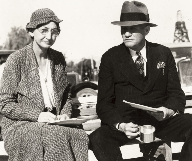 Nellie Bush with Governor Benjamin Moeur, circa 1930