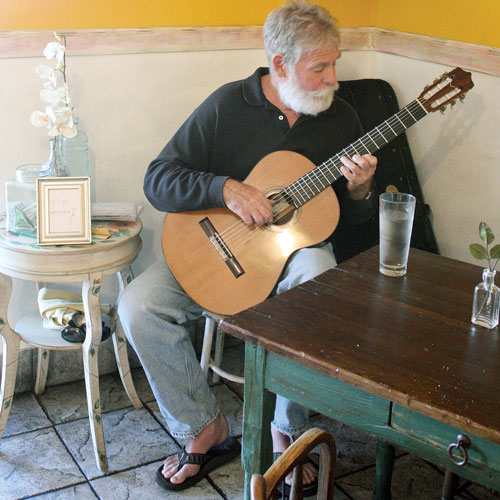 music during Sunday brunch at Coppa Café