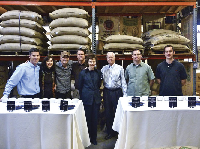 the family in the coffee warehouse, today