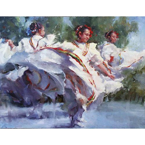 "Photos courtesy Beth Lauterbach; ""De Rio Blanco"" by Michael Maczuga, oil on canvas"
