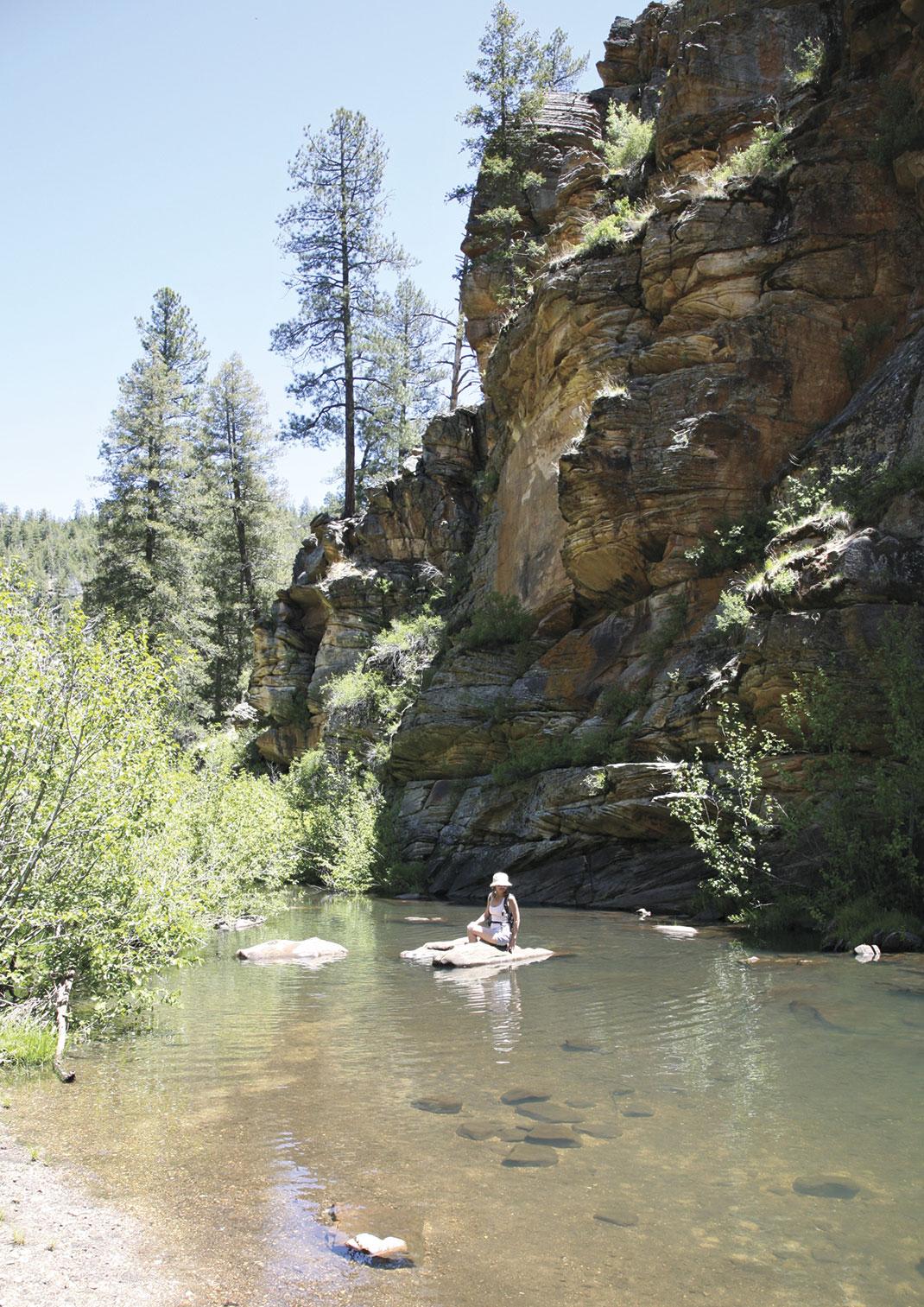 photo by Leah Lemoine; A canyon pool at Kinder Crossing.