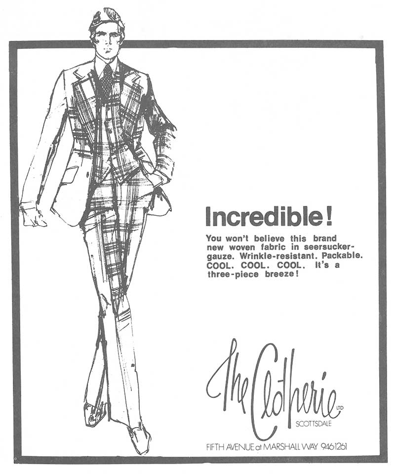 an ad within Arizona Living magazine in March 1974