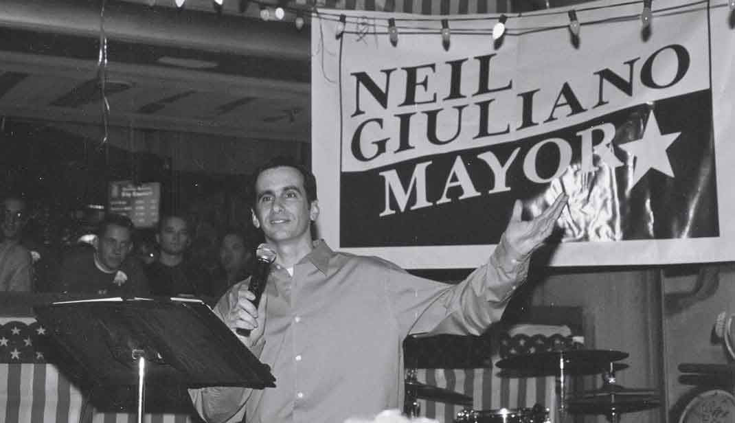 photo courtesy City of Tempe; Giuliano in March of 2000, on the night of his fourth re-election as mayor of Tempe.