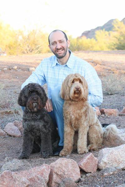 Bill Konigsberg and his dogs. Photo by Krystina Moran.