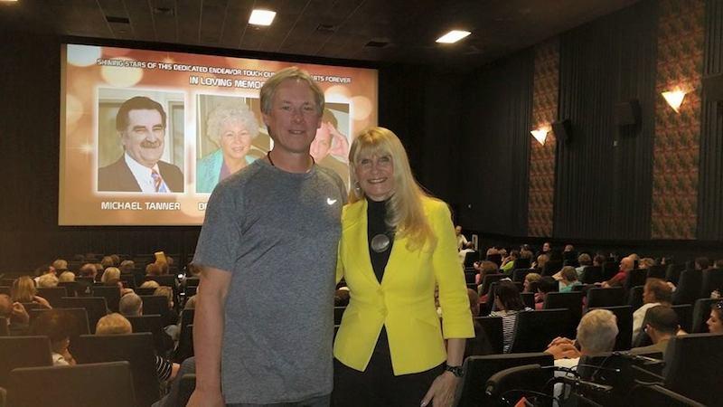 "Dr. Lynne Kitei, right, with ""The Phoenix Lights Documentary"" filmmaker Steve Lantz. Photo courtesy Lynne Kitei."