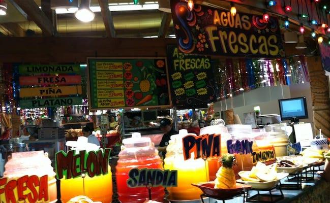 Los Altos Ranch Market juice display. Photo by Lizeth M. via Yelp.