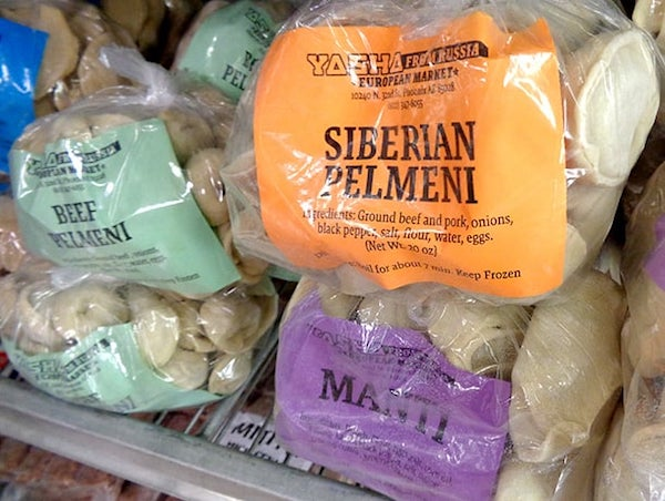 Pelmeni (meat dumplings). Photo by Norm R. via Yelp.