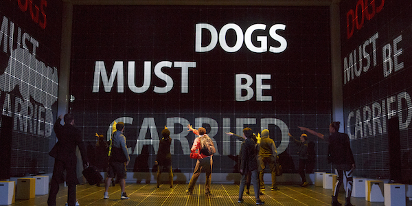 """A glimpse of the set design in """"Curious Incident."""" Photo by Joan Marcus."""