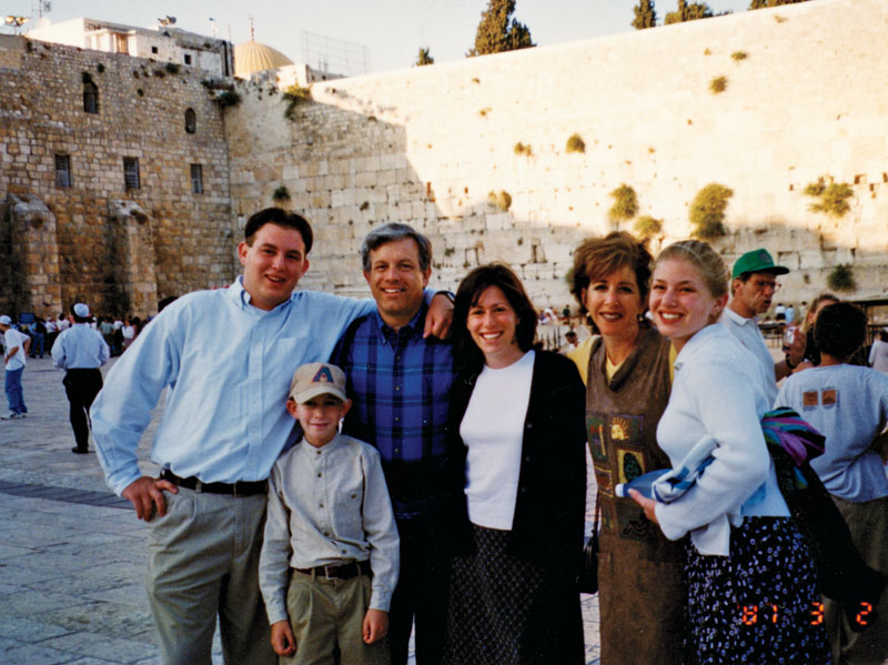 Barbara Goldberg and her blended family at the Western Wall in Israel in 1997. Photo by Diana Elizabeth