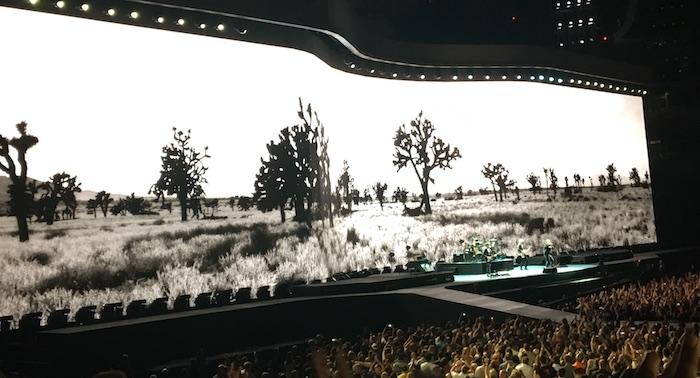 U2 performs Joshua Tree at University of Phoenix Stadium. Photo by Nikole Tower.