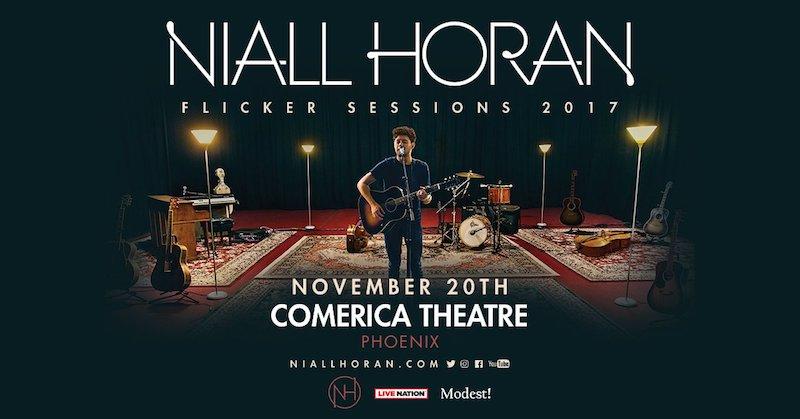Niall Horan. Photo courtesy Comerica Theatre.