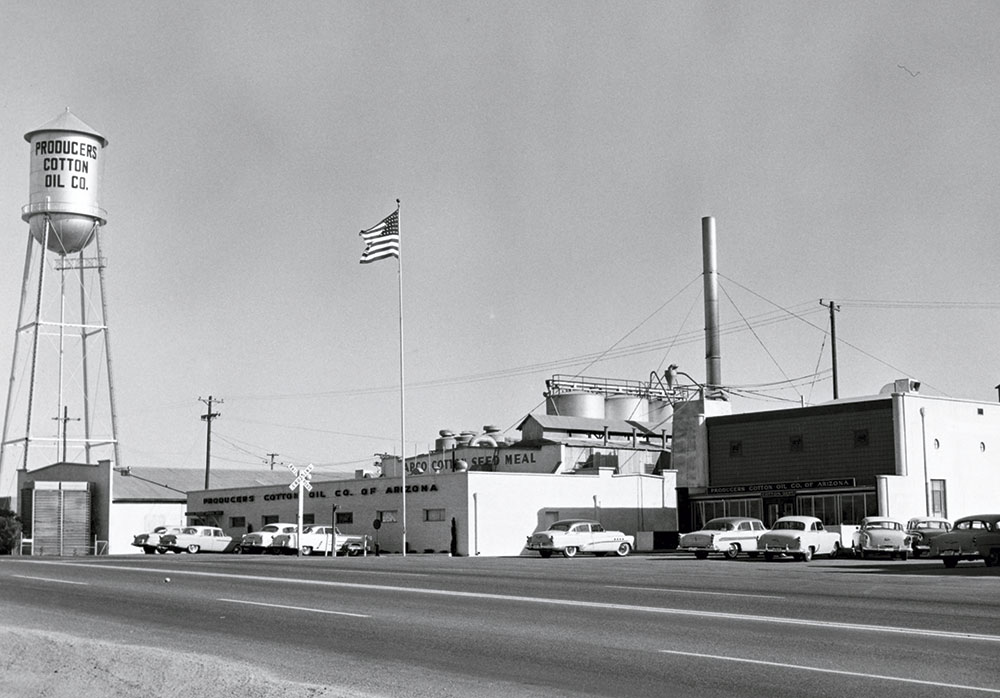 Cotton processing plant, circa 1960s