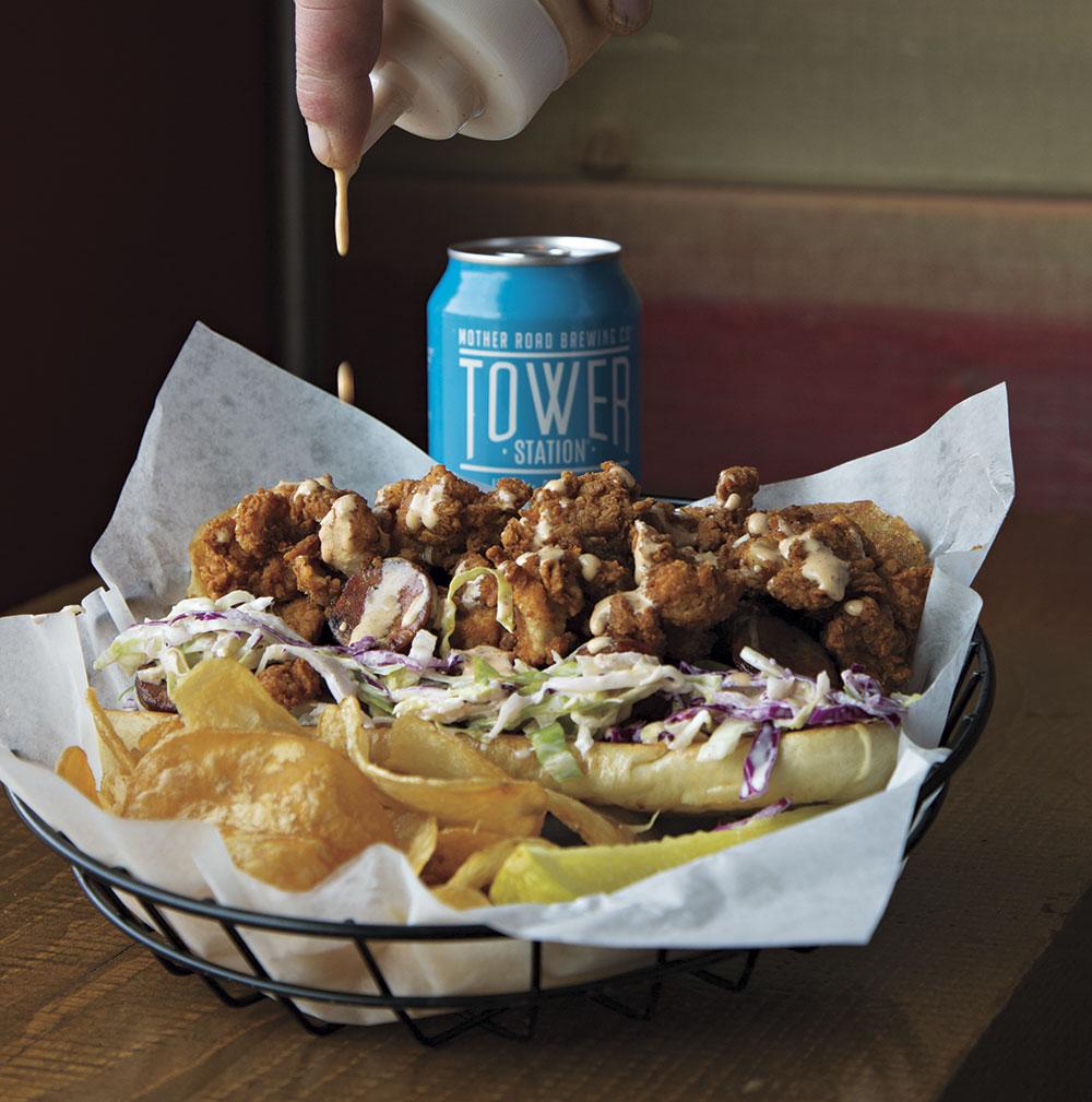 Fried Chicken Po' Boy, Proper Meats + Provisions; photography by Mirelle Inglefield