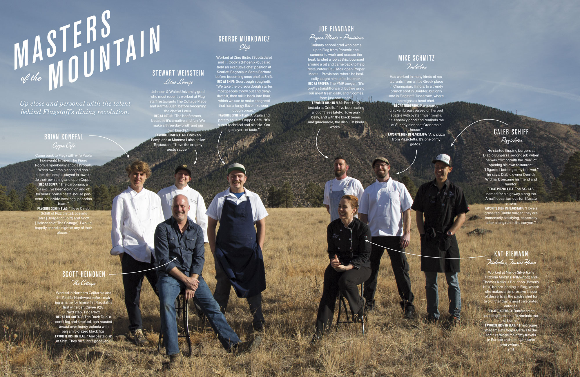 Masters of the Mountain - Up close and personal with the talent behind Flagstaff's dining revolution