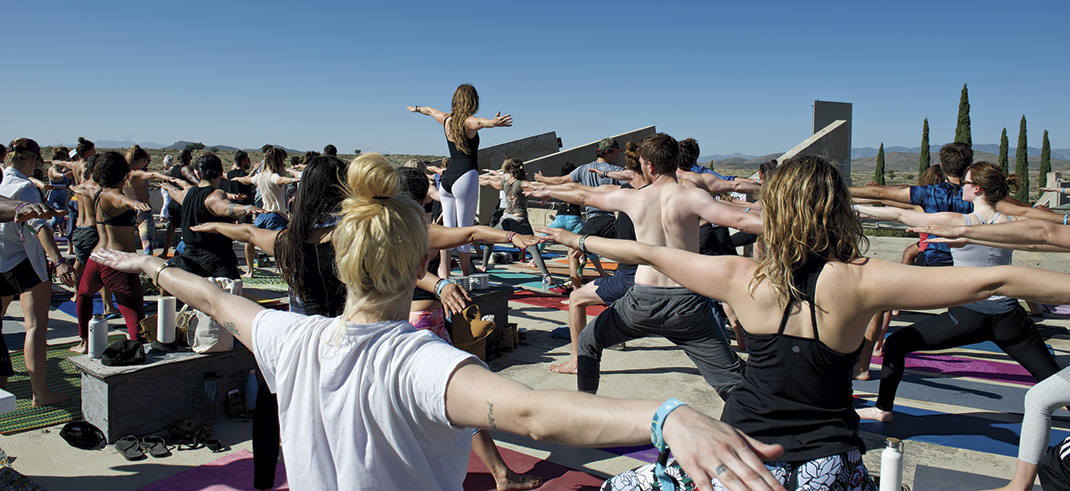 yoga at the FORM Festival; photos by David Apeji
