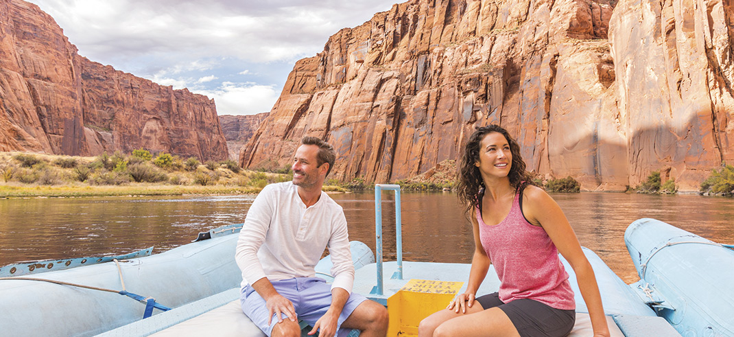 Glen Canyon Rafting Hospitality; photo by Madison Kirkman; models: Dan Fitzpatrick & Ashley Haber/ Ford Robert Black Agency