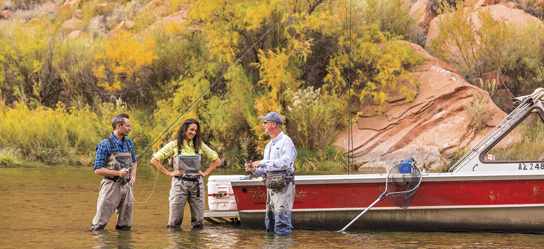 Lees Ferry Anglers; Photo by Madison Kirkman; models: Dan Fitzpatrick & Ashley Haber/ Ford Robert Black Agency