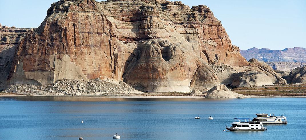 Lake Powell, Antelope Point Marina; photos courtesy Adobe Stock Images