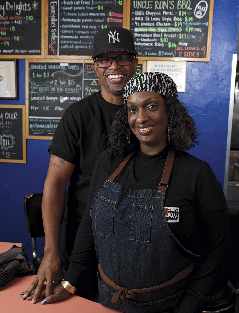 Ron & Via Childs, Rhema Soul Cuisine; photo by David Apeji