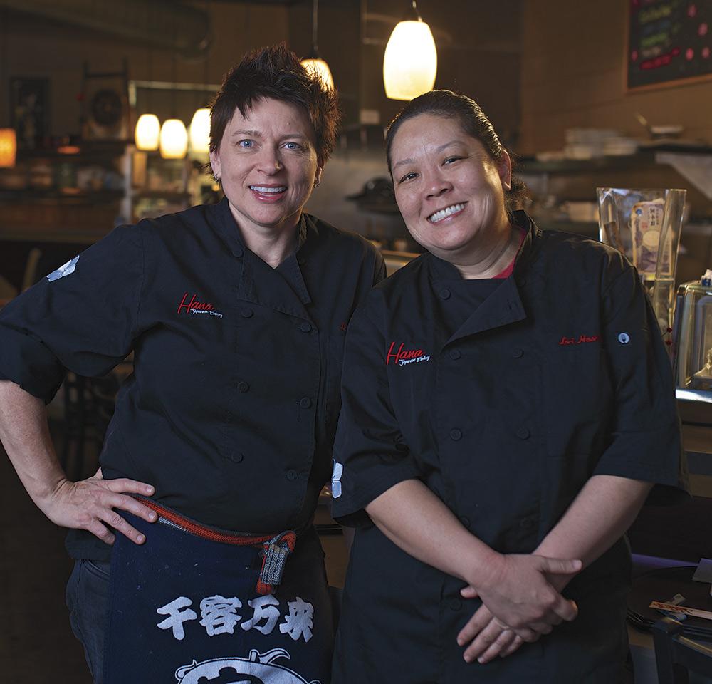 Lori Hashimoto & Lynn BeckerHana Japanese Eatery; photo by David Apeji