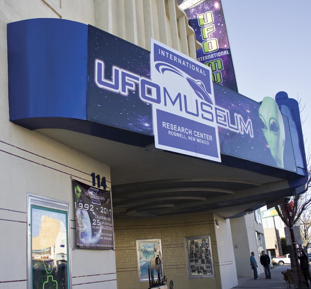 the International UFO Museum; photo by Lauren Loftus