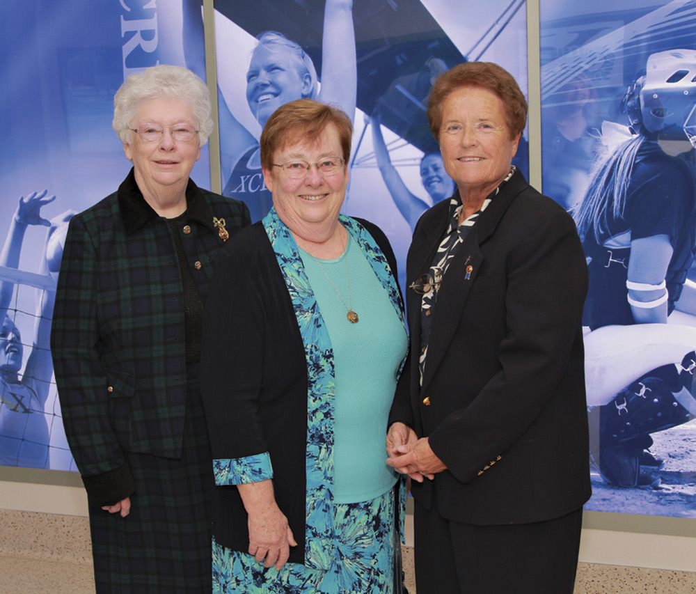 Fitzgerald, Sister Joanie Nuckols and Sister Lynn Winsor; photo courtesy of Duke Photography