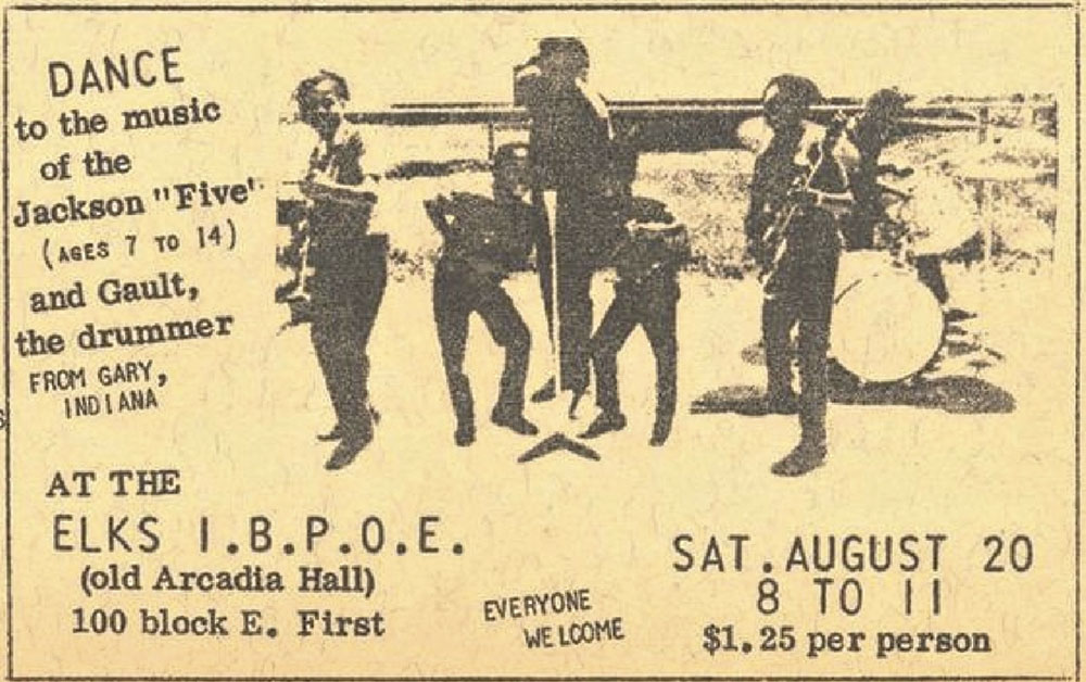 a flyer for the band's August 1966 show in Winslow; photo courtesy Linda Kor