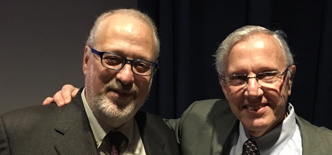 David Ira Goldstein with Holocaust survivor Steven Hess
