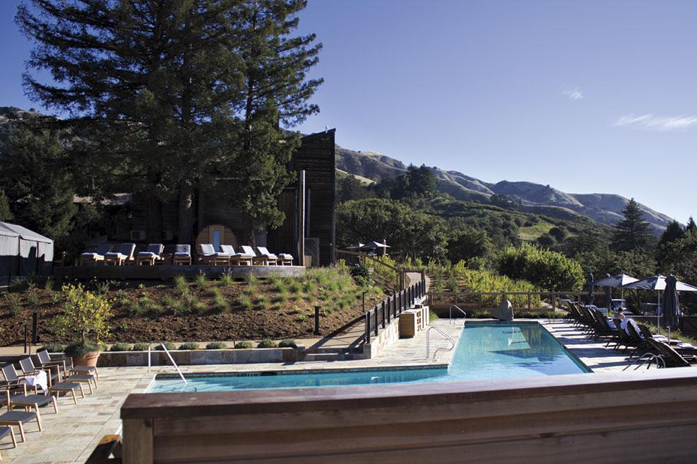 new pool deck overlooking the ocean at Ventana Big Sur
