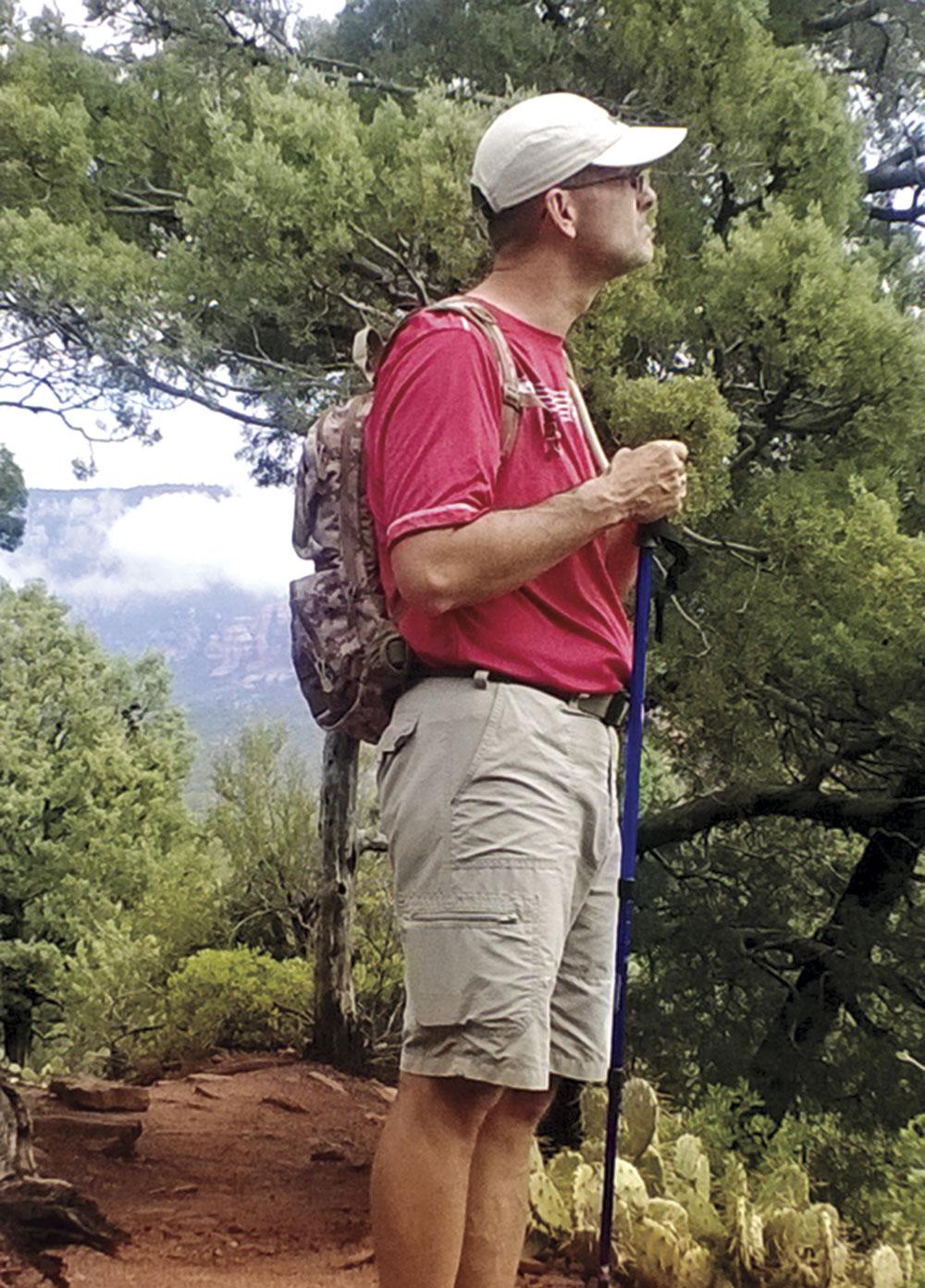 Chris Stricker on the summit of Picacho Peak