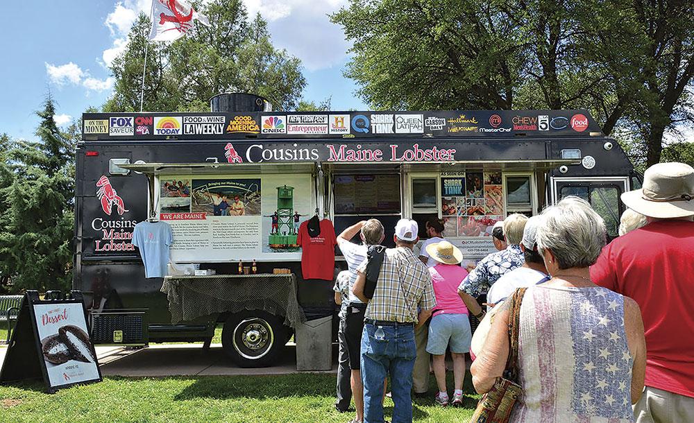 high-country shellfish at Payson Food Truck Festival; photo courtesy Payson Food Truck Festival