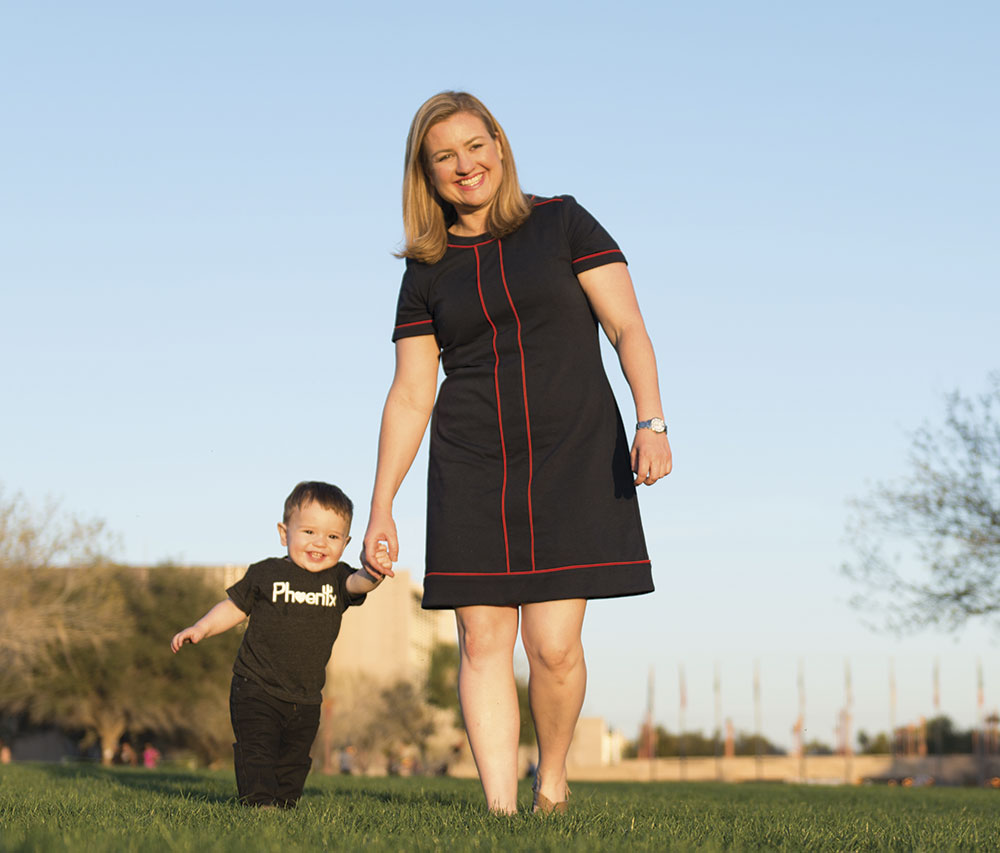 photography by Jim David; Gallego and son Michael at Margaret T. Hance Park