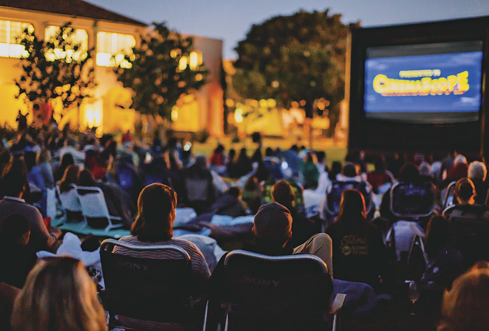 Photo by Sam Zauscher; free Second Saturday outdoor movie at Liberty Station