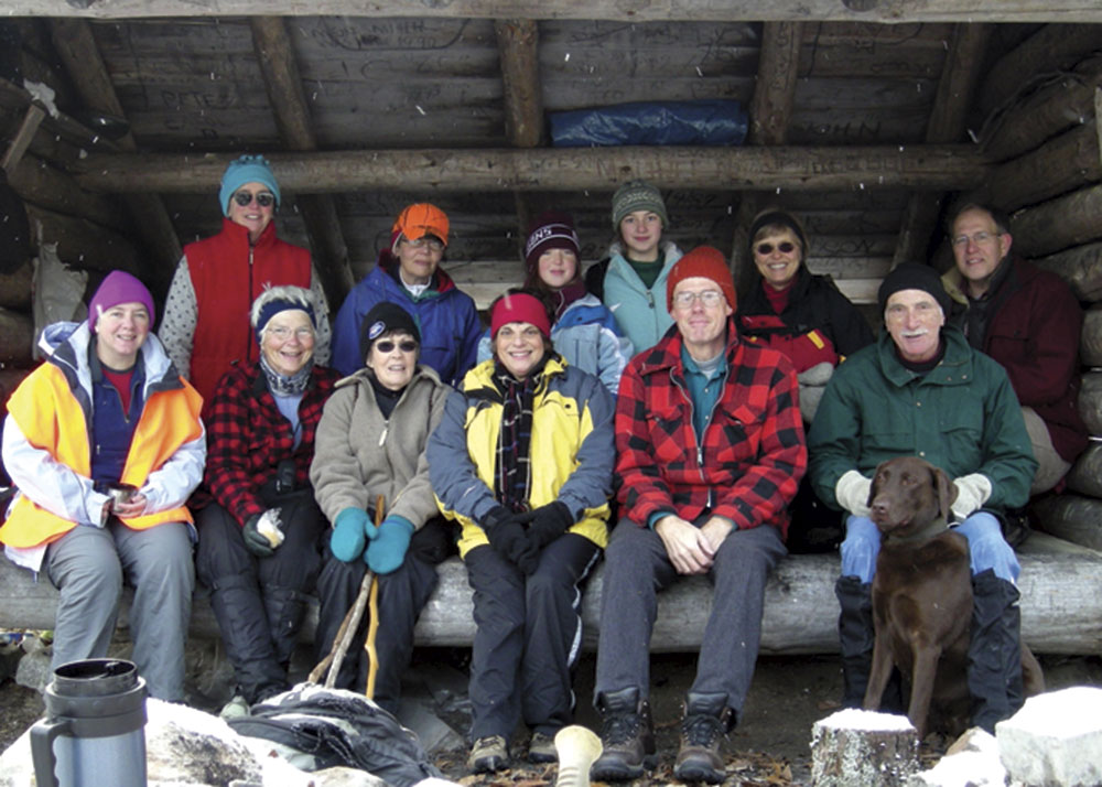 Photo by Stuart Campbell; winter hike with friends in New York's Adirondack State Park