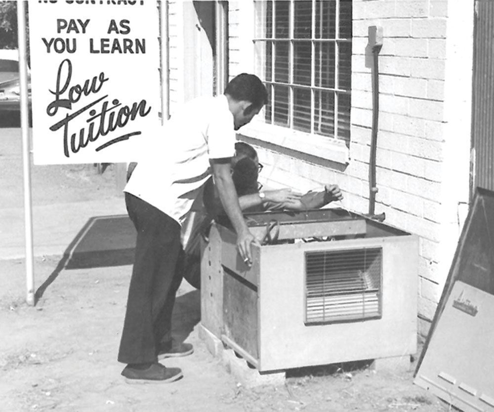 Modern School of Refrigeration, circa 1970; photo courtesy Cline Family