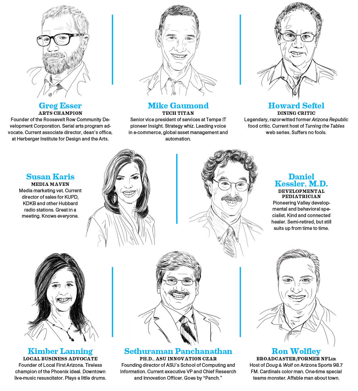 The Panelists: Greg Esser, Mike Gaumond, Howard Seftel, Susan Karis, Daniel Kessler MD, Kimber Lanning, Sethuraman Panchanathan, Ron Wolfley